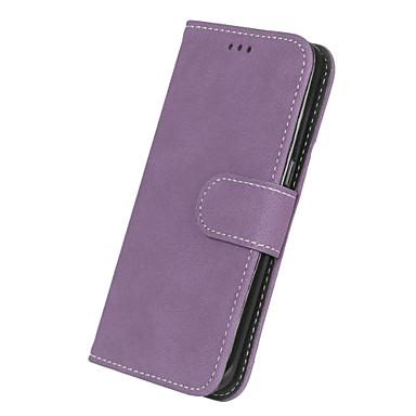 halpa Galaxy S4 Mini kotelot / kuoret-Etui Käyttötarkoitus Samsung Galaxy S7 edge / S7 Lomapkko / Korttikotelo / Flip Suojakuori Yhtenäinen Kova PU-nahka varten S7 edge / S7 / S6 edge
