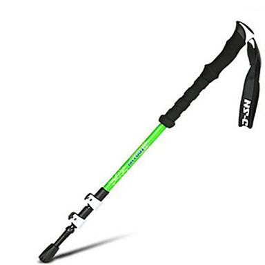 3 Yürüyüş Batonu Trekking Batonları 135cm (53 inç) Hızlılık Ayarlanabilir Uzunluk Teleskopik Aluminyum Karbon Fiber