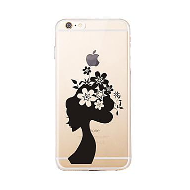 Na Wzór Kılıf Etui na tył Kılıf Seksowna dziewczyna Miękkie TPU na AppleiPhone 7 Plus / iPhone 7 / iPhone 6s Plus/6 Plus / iPhone 6s/6 /