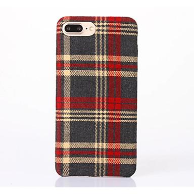 Pouzdro Uyumluluk Apple iPhone 6 iPhone 7 Plus iPhone 7 Şoka Dayanıklı Arka Kapak Geometrik Desenli Yumuşak Tekstil için iPhone 7 Plus