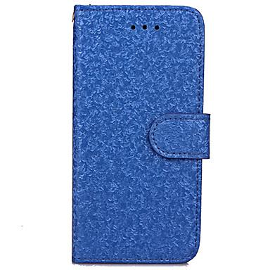 Pouzdro Uyumluluk iPhone 7 Plus iPhone 7 Apple iPhone 7 Plus iPhone 7 Kart Tutucu Cüzdan Satandlı Flip Tam Kaplama Kılıf Tek Renk Sert PU