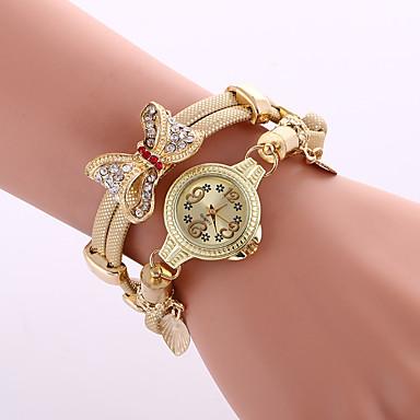 Damskie Kwarcowy Zegarek na nadgarstek Zegarek na bransoletce Kolorowy Stop Pasmo Urok Błyszczące Vintage Na co dzień Muchy Artystyczny