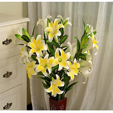1 Gałąź Plastikowy Others Others Lilie Kwiaty na podłogę Sztuczne Kwiaty