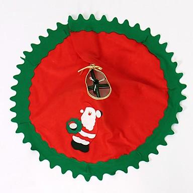 80cm 1 개 산타 클로스 트리 치마 크리스마스 트리 치마 크리스마스 트리 장식 크리스마스 용품 크리스마스 장식