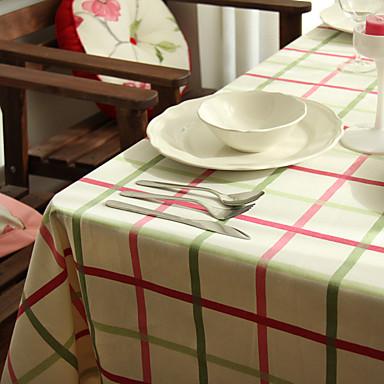 Suorakulma Patterned Gingham Table Cloths , 100% puuvillaa materiaali Hotel ruokapöytä Häät Party Sisustus Häihin Illallinen Joulu