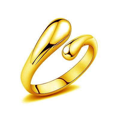 Kadın Yüzük Mücevher Altın Damla Mücevher Düğün Parti Günlük