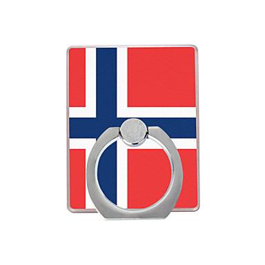 norjalainen kuvio muovinen rengaspidike / 360 pyörivä matkapuhelimelle iphone 8 7 samsung galaxy s8 s7