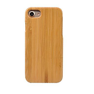 voordelige iPhone 5 hoesjes-hoesje Voor Apple iPhone 7 Plus / iPhone 7 / iPhone 6s Plus Stofbestendig Achterkant Effen Hard Bamboe