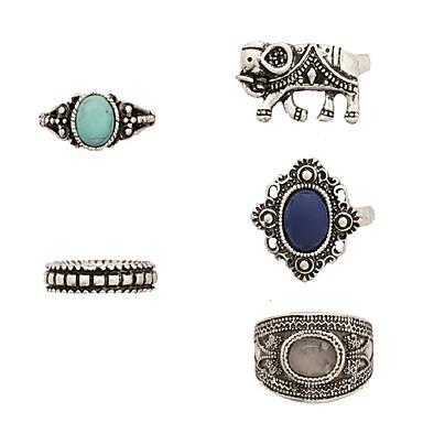 Δαχτυλίδια για τη Μέση του Δαχτύλου Βέρες Δαχτυλίδι Κοσμήματα Οπάλιο Κράμα Ασημί Κοσμήματα Πάρτι Καθημερινά Causal 1set