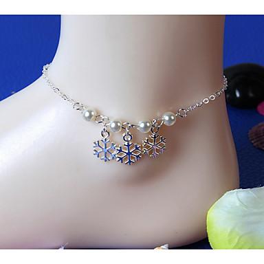 Γυναικεία Βραχιόλι αστραγάλου/Βραχιόλια Μαργαριτάρι Κράμα Χειροποίητο Κοσμήματα Για Καθημερινά Causal Παραλία