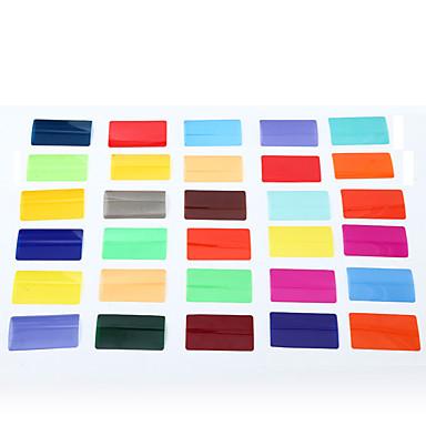 sidande 30szt Zestaw filtrów kolor folia do Panasonic Nikon DSLR canon pentax błyskową Speedlite