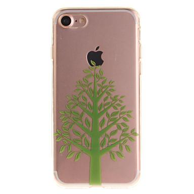 Için IMD Pouzdro Arka Kılıf Pouzdro Ağaç Yumuşak TPU için Apple iPhone 7 / iPhone 6s/6