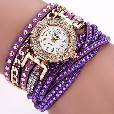 Damskie Kwarcowy Zegarek na nadgarstek Zegarek na bransoletce Kolorowy Punk PU Pasmo Urok Kwiat Błyszczące Vintage Słodycze Na co dzień