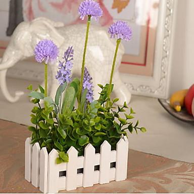 1 Gałąź Plastikowy Others Hortensje Rośliny Jasnoniebieski Others Bukiety na stół Sztuczne Kwiaty