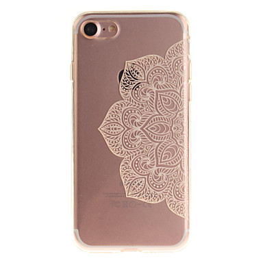 Varten iPhone 7 kotelo iPhone 6 kotelo IMD Etui Takakuori Etui Mandala Pehmeä TPU varten AppleiPhone 7 Plus iPhone 7 iPhone 6s Plus/6