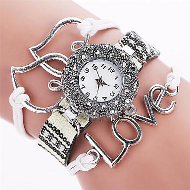 Xu™ Kadın's Bilezik Saat Moda Saat Quartz PU Bant Vintage Günlük Siyah Beyaz Mavi Kırmızı Kahverengi Pembe