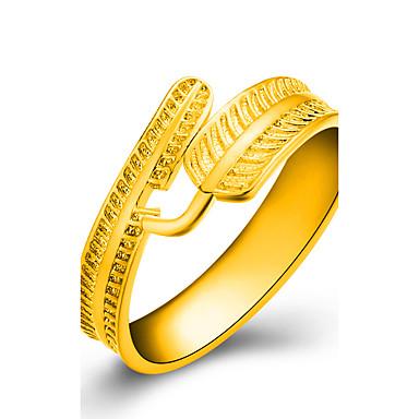 Damskie Złoty Leaf Shape Pierscionek - Golden Pierścień Na Ślub / Impreza / Codzienny