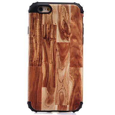 Kılıf Na Apple iPhone 7 iPhone 6 Etui iPhone 5 Odporne na wstrząsy Wzór Etui na tył Tekstura drewna Twarde PC na iPhone 7 Plus iPhone 7