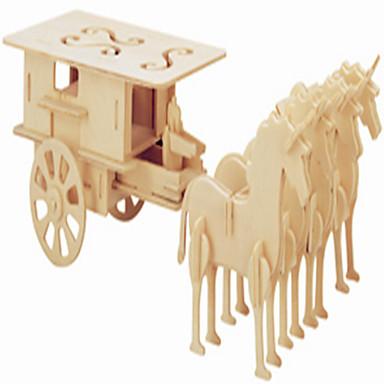 تركيب خشبي لعبة سيارات ألعاب عربة بناء مشهور حصان المستوى المهني صبيان فتيات 1 قطع