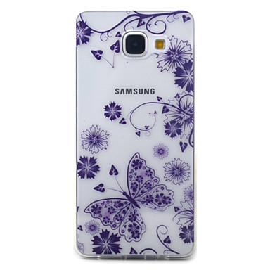 Pouzdro Uyumluluk Samsung Galaxy A5(2016) A3(2016) Şeffaf Temalı Arka Kılıf Kelebek Yumuşak TPU için A5(2016) A3(2016)