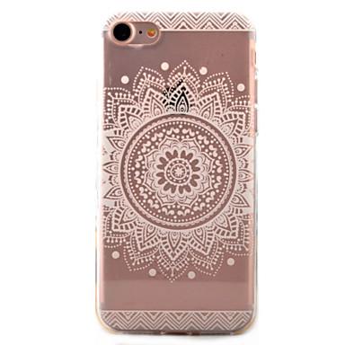 Case Kompatibilitás Apple iPhone 7 iPhone 7 Plus iPhone 6 Átlátszó Minta Hátlap Mandala Puha TPU mert iPhone 7 Plus iPhone 7 iPhone 6s