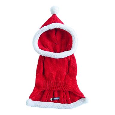 Köpek Kostümler Kapüşonlu Giyecekler Köpek Giyimi Cosplay Noel Tek Renk Kostüm Evcil hayvanlar için
