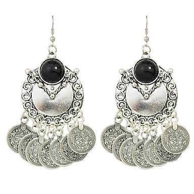 Σκουλαρίκι Κρεμαστά Σκουλαρίκια Κοσμήματα Γυναικεία Πάρτι Κράμα 1 ζευγάρι Ασημί