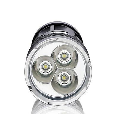 LED Fenerler LED 2200 lm 3 Kip LED Kısılabilir Su Geçirmez Süper Hafif Yüksek Güçlü Kamp/Yürüyüş/Mağaracılık Günlük Kullanım Bisiklete