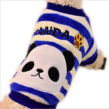 Pies T-shirt Kombinezon Piżama Ubrania dla psów Oddychający Codzienne Motyw zwierzęcy Czerwony Niebieski Kostium Dla zwierząt domowych