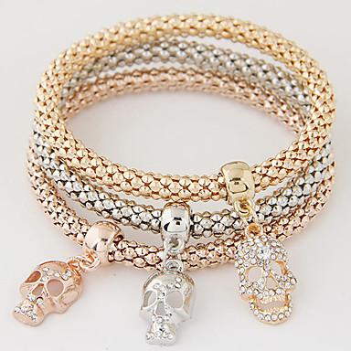 807430c98 Women's Layered Stack Stacking Stackable Charm Bracelet Rhinestone  Imitation Diamond Skull Ladies Luxury European Simple Style Fashion  Bracelet Jewelry ...