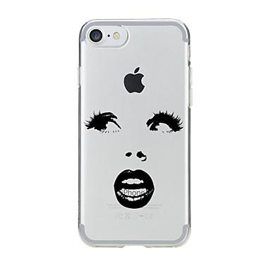 Varten Kuvio Etui Takakuori Etui Seksikäs nainen Pehmeä TPU varten AppleiPhone 7 Plus / iPhone 7 / iPhone 6s Plus/6 Plus / iPhone 6s/6 /