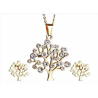 kalen®graceful γυναικεία κοσμήματα σύνολα χάλυβα 18k ανοξείδωτο ιταλικά επιχρυσωμένο δέντρο της ζωής προμηθευτή κολιέ κρεμαστό κόσμημα