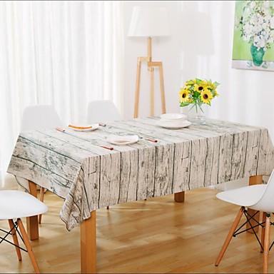 Neliö Patterned Table Cloths , Linen materiaali Hotel ruokapöytä Taulukko Dceoration