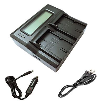 ismartdigi bp511 LCD podwójny ładowarka z kablem ładowania samochodów dla Canon EOS 300D 10d 20d 30d 40d 50d aparat EOS 5D batterys
