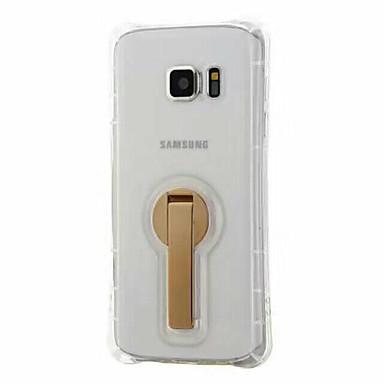 Kılıf Na Samsung Galaxy S7 edge S7 Z podpórką Etui na tył Solid Color Miękkie TPU na S7 edge S7 S6 edge plus S6 edge