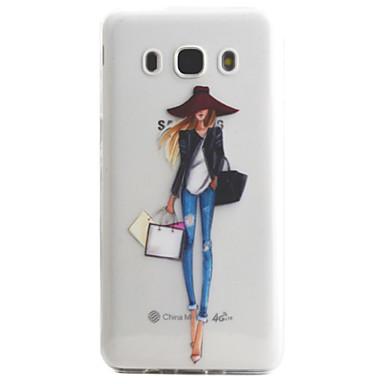 케이스 제품 Samsung Galaxy J5 (2016) J3 (2016) 투명 패턴 뒷면 커버 섹시 레이디 소프트 TPU 용 J5 (2016) J5 J3 (2016) J3