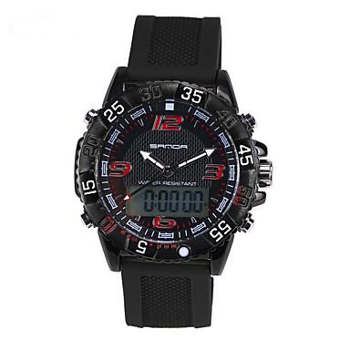 SANDA Miesten Armeijakello Smart Watch Muotikello Rannekello Urheilukello Digitaalinen Japanilainen kvartsi Ajanotto Vedenkestävä LED