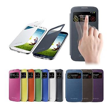 Smart View scherm aanraking pu lederen tas voor Samsung S4 9500 (verschillende kleuren)