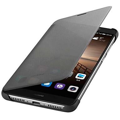 voordelige Huawei Mate hoesjes / covers-hoesje Voor Huawei Mate 9 Automatisch aan / uit / Flip Volledig hoesje Effen Hard PU-nahka
