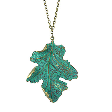 نساء قلائد الحلي مجوهرات سبيكة تصميم بسيط أخضر مجوهرات إلى يوميا فضفاض 1PC