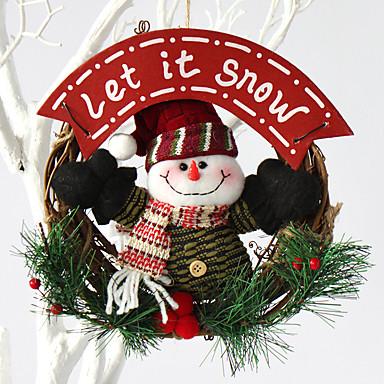 홈 파티 직경 20cm를위한 크리스마스 화 환 소나무 바늘 크리스마스 장식 새 해 공급 NAVIDAD