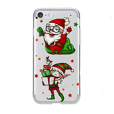 Kılıf Na Apple iPhone 7 Plus iPhone 7 Przezroczyste Wzór Czarne etui Święta Bożego Narodzenia Miękkie TPU na iPhone 7 Plus iPhone 7