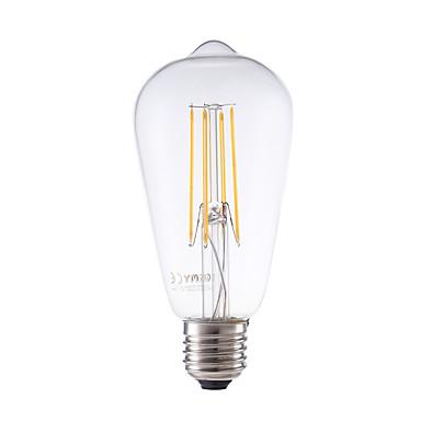 GMY® 1kpl 450lm E26 / E27 LED-hehkulamput ST58 4 LED-helmet COB Himmennettävissä Koristeltu Lämmin valkoinen 220-240V
