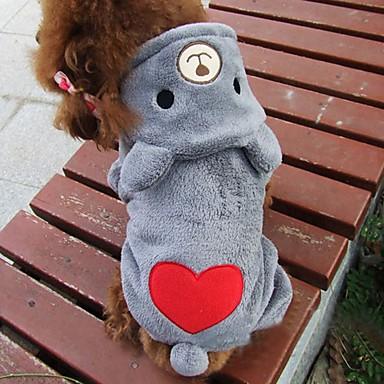 Kat Hond kostuums Hoodies Hondenkleding Schattig Cosplay Beer Grijs Roos Kostuum Voor huisdieren