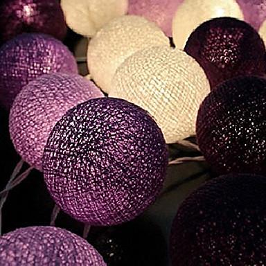 wróżka string lightshome dekoracja fiesta lampgarland pasek oświetlenie ślubne luminarias110 / 220v 20szt bawełniana piłka
