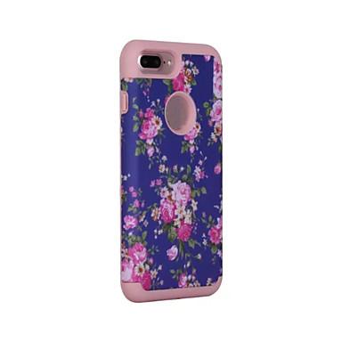Για Ανθεκτική σε πτώσεις / Προστασία από τη σκόνη tok Πλήρης κάλυψη tok Μονόχρωμη Σκληρή Σιλικόνη για AppleiPhone 7 Plus / iPhone 7 /