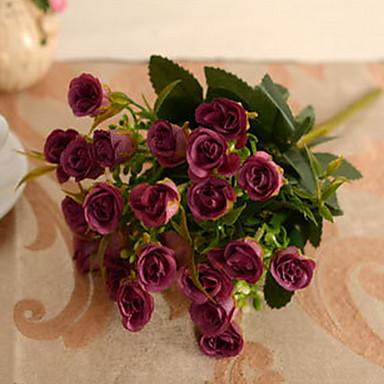 1 Κλαδί Πλαστικό Others Τριαντάφυλλα Φυτά Others Λουλούδι για Τραπέζι Ψεύτικα λουλούδια