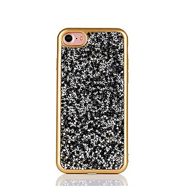 Kılıf Na Apple iPhone 6 iPhone 7 Plus iPhone 7 Stras Galwanizowane Czarne etui Połysk Miękkie TPU na iPhone 7 Plus iPhone 7 iPhone 6s