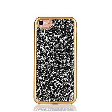 Pouzdro Uyumluluk Apple iPhone 6 iPhone 7 Plus iPhone 7 Taşlı Kaplama Arka Kapak Işıltılı Parlak Yumuşak TPU için iPhone 7 Plus iPhone 7