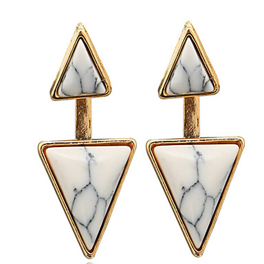Damskie Kolczyki na sztyft luksusowa biżuteria Osobiste Europejski Turkusowy Stop Geometric Shape Triangle Shape Biżuteria Na Ślub